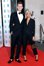 Caspar Lee and Ambar Driscoll attending the after show party for the 73rd British Academy Film Awards.
