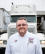 America's Road Team captain Gary Babbitt poses for a portrait in front of his truck in Dallas on Wednesday, April 3, 2013. (Cooper Neill/The Dallas Morning News)