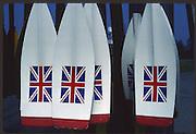 Banyoles, SPAIN, GBR Macon Blades hanging in the rack. 1992 Olympic Regatta, Lake Banyoles, Barcelona, SPAIN. 92 Gold Medalist.   [Mandatory Credit: Peter Spurrier: Intersport Images]