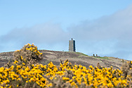 Hiking the Raad ny Foillan coastal path or 'Way of the Gull', Isle of Man. Pictured, Corrin's Tower near Peel. © Rudolf Abraham