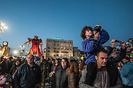 """The """"Pa-drone"""" by Fabrizio Galli during the parade"""