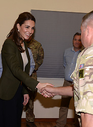 December 5, 2018 - Cyprus - Image licensed to i-Images Picture Agency. 05/12/2018. RAF Akrotiri, Cyprus. The Duke and Duchess of Cambridge at RAF Akrotiri in Cyprus where they met with Serving personnel and their families living on the base. (Credit Image: © i-Images via ZUMA Press)
