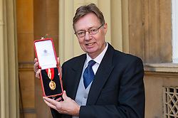 Sir Gary Streeter MP following an investiture ceremony at Buckingham Palace in London. London, March 14 2019.