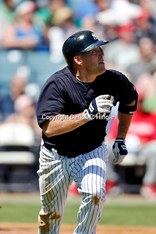 Mar 16, 2013; Tampa, FL, USA; New York Yankees third baseman Kevin Youkilis (36) against the Philadelphia Phillies during a spring training game at George Steinbrenner Field. Mandatory Credit: Derick E. Hingle-USA TODAY Sports