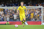 Bristol Rovers midfielder Chris Lines (14) dribbling during the EFL Cup match between Chelsea and Bristol Rovers at Stamford Bridge, London, England on 23 August 2016. Photo by Matthew Redman.