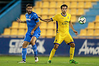 Getafe CF's Jorge Molina (l) and AD Alcorcon's David Fernandez during friendly match. August 9,2017. (ALTERPHOTOS/Acero)