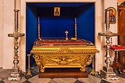 Tomb in the Church of the Holy Annunciation, Dubrovnik, Dalmatian Coast, Croatia