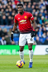 February 3, 2019 - Leicester, England, United Kingdom - Paul Pogba of Manchester United on ball during the Premier League match between Leicester City and Manchester United at the King Power Stadium, Leicester on Sunday 3rd February 2019. (Credit Image: © Mi News/NurPhoto via ZUMA Press)