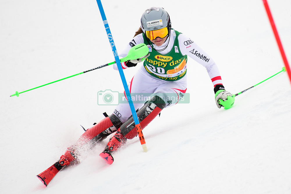January 7, 2018 - Kranjska Gora, Gorenjska, Slovenia - Katharina Huber of Austria competes on course during the Slalom race at the 54th Golden Fox FIS World Cup in Kranjska Gora, Slovenia on January 7, 2018. (Credit Image: © Rok Rakun/Pacific Press via ZUMA Wire)