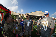 January 27 2016: New York Giants Eli Manning poses for a photo Pro Bowl Draft at Wheeler Army Base on Oahu, HI. (Photo by Aric Becker/Icon Sportswire)