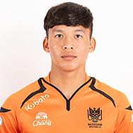 THAILAND - JUNE 24: Sitthinnan Rungrueang #45 of Ratchaburi Mitr Phol FC on June 24, 2019.<br /> .<br /> .<br /> .<br /> (Photo by: Naratip Golf Srisupab/SEALs Sports Images/MB Media Solutions)