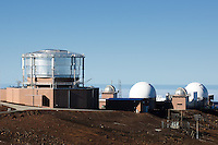Haleakala Air Force Satellite Tracking Station.  Image taken with a Nikon D3x and 70-300 mm VR lens (ISO 100, 122 mm, f/8, 1/320 sec)