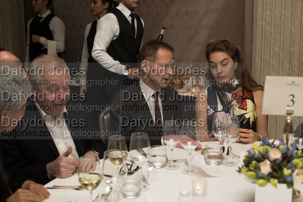 SIR NICHOLAS SEROTA; TATIANA OJJEH, Anish Kapoor and Lee Ufan preview dinner hosted by the Lisson Gallery after the opening on Bell St. The Connaught. London. 23 March 2015