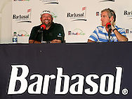 18 JUL 15   Jason Gore meets the press after Saturday's Third Round of The Barbasol Championship at The Robert Trent Jones Golf Trail in Opelika, Alabama. (photo credit : kenneth e. dennis/kendennisphoto.com)