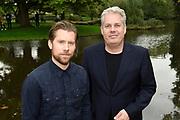 Persviewing SBS 6 Dokter Tinus & Bureau Raampoort in het Vondelpark, Amsterdam.<br /> <br /> op de foto:  Cast  Bureau Raampoort Tim Haars en Thomas Acda
