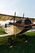 """Curtiss JN-4D """"Jenny"""" at the 2017 Hood River Fly-In; OX-5 themed to celebrate its 100th anniversary."""