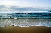 Selective Focus details of Bar Beach, Newcastle, East Coast Australia