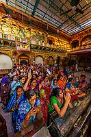 Evening prayer, Dwarkadheesh (Hindu) Temple, Mathura, Uttar Pradesh, India