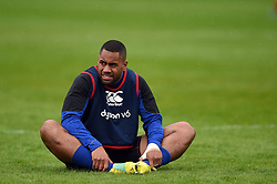 Joe Cokanasiga of Bath Rugby looks on during the pre-match warm-up - Mandatory byline: Patrick Khachfe/JMP - 07966 386802 - 24/08/2018 - RUGBY UNION - The Recreation Ground - Bath, England - Bath Rugby v Scarlets - Pre-season friendly