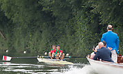 Henley-on-Thames. United Kingdom.  <br /> Silver Goblets and Nickalls' Challenge Cup. Penzugtoy Sportegyulet  HUN M2-  Bow. A. JUHASZ and B. SIMON<br />  <br /> 2017 Henley Royal Regatta, Henley Reach, River Thames. <br /> <br /> 12:11:05  Saturday  01/07/2017   <br /> <br /> [Mandatory Credit. Peter SPURRIER/Intersport Images.