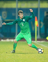 Zan Zuzek of Slovenia during football match between National teams of Slovenia and France in UEFA European Under-21 Championship Qualification, on November 13, 2017 in Domzale, Slovenia. Photo by Vid Ponikvar / Sportida