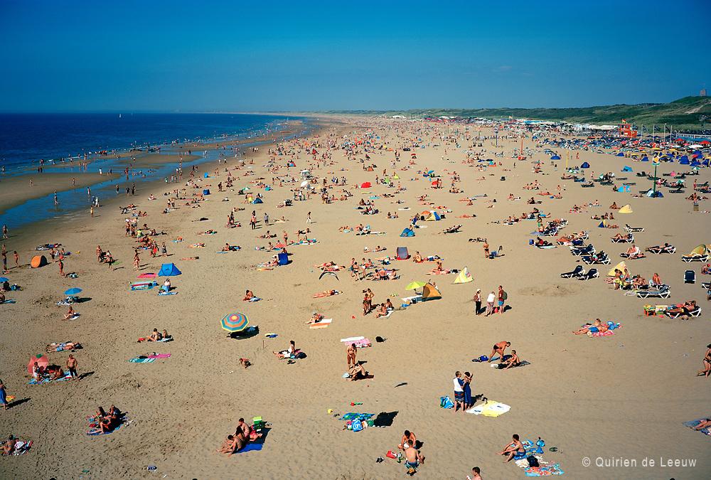 The Hague beach on a summer day.