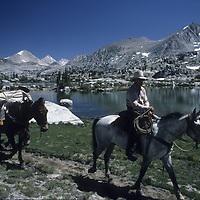 Pacific Crest Trail near Selden Pass, John Muir Wilderness, Sierra Nevada, CA.
