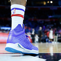 16 December 2015: Close view of Los Angeles Clippers center Josh Smith (5) shoes during the Los Angeles Clippers 103-90 victory over the Milwaukee Bucks, at the Staples Center, Los Angeles, California, USA.