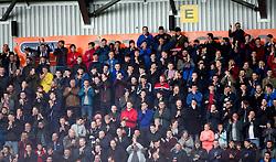 South stand. <br /> Falkirk 1 v 0 Morton, Scottish Championship game  played 1/5/2016 at The Falkirk Stadium.