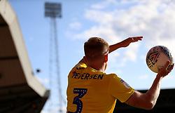 Birmingham City's Kristian Pedersen takes a throw in