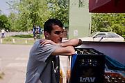 Goran Stanic hangs out at the corner market in Lazarevo, Serbia. ..Matt Lutton for The International Herald Tribune..Capture of Ratko Mladic. Lazarevo, Serbia. May 27, 2011.
