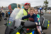 02/07/2017 REPRO FREE:  Conor and Caoimhe Fotrell from Galway with Corp Alan Dully  at Seafest 2017, the National Maritime Festival which  in Galway.<br /> . Photo:Andrew Downes, xposure .
