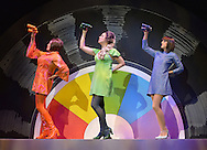 Shout The Mod Musical at Blackpool WInter Gardens.<br />Produced by Peter Frosdick, Shout is running in Blackpool until November 3.<br /><br />Left  Niki Evans as Orange Girl, Liz McClarnon as Green Girl, and Helena Blackman as Blue Girl.<br />Shout is a musical telling the girls' lives through the tales of a gossip magazine agony aunt in the 1960s.
