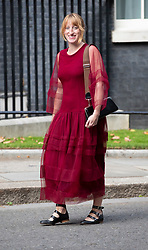 © Licensed to London News Pictures. 18/09/2018. London, UK. Designer Molly Goddard arrives in Downing Street to attend a  Fashion Week reception hosted by Prime Minister Theresa May. Photo credit: Peter Macdiarmid/LNP