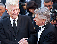 Directors David Lynch and Roman Polanski at the 70th Anniversary Ceremony arrivals at the 70th Cannes Film Festival Tuesday 23rd May 2017, Cannes, France. Photo credit: Doreen Kennedy
