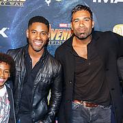 NLD/Amsterdam/20180425 - Première The Avengers: Infinity War, ........ en Edwin Jonker en zoon