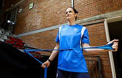 Ana Gros during practice session of Slovenian National Women team before 2021 World Women's Handball Championship qualifying match against Iceland, on April 12, 2021 in Arena Kodeljevo, Ljubljana, Slovenia. Photo by Vid Ponikvar / Sportida