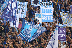 August 20, 2017 - Rome, Italy - Spal supporters at Olimpico Stadium in Rome, Italy on August 20, 2017. (Credit Image: © Matteo Ciambelli/NurPhoto via ZUMA Press)