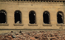 December 10, 2016 - Cairo, Cairo, Egypt - A picture shows the damaged Saint Peter and Saint Paul Coptic Orthodox Church after a bombing on December 11, 2016, in Cairo's Abbasiya neighbourhood. The blast killed at least 25 worshippers during Sunday mass inside the Cairo church near the seat of the Coptic pope who heads Egypt's Christian minority, state media said  (Credit Image: © Amr Sayed/APA Images via ZUMA Wire)