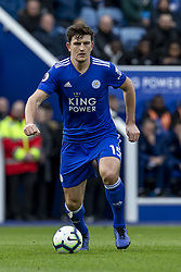 March 9, 2019 - Leicester, Leicestershire, United Kingdom - Harry Maguire of Leicester City during the Premier League match between Leicester City and Fulham at the King Power Stadium, Leicester on Saturday 9th March 2019. (Credit Image: © Mi News/NurPhoto via ZUMA Press)