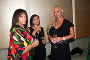 DENISE MANNING; HEMA PATEL; JULIE PATSALIDES, The Tomodachi ( Friends) Charity Dinner hosted by Chef Nobu Matsuhisa in aid of the Unicef  Japanese Tsunami Appeal. Nobu Berkeley St. London. 5 May 2011. <br /> <br />  , -DO NOT ARCHIVE-© Copyright Photograph by Dafydd Jones. 248 Clapham Rd. London SW9 0PZ. Tel 0207 820 0771. www.dafjones.com.