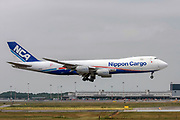 Nippon Cargo Airlines, Boeing 747-8F at Malpensa (MXP / LIMC), Milan, Italy