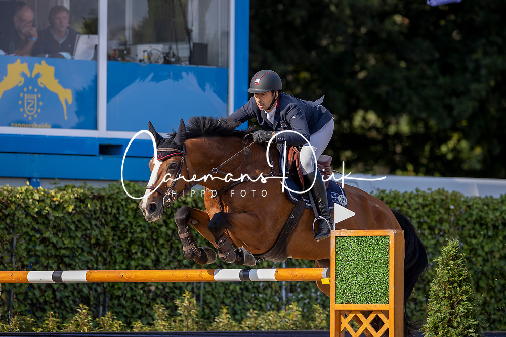 Dunon Gilles, BEL, Fou de Toi vd Keihoeve<br /> Belgisch Kampioenschap Jumping  <br /> Lanaken 2020<br /> © Hippo Foto - Dirk Caremans<br /> 02/09/2020