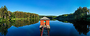 Panoramic view of Hornell Reservoir Number Two located along State Highway 21 in Fremont, NY in Steuben County.