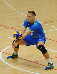 Jani Kovacic of Sloveniaduring friendly volleyball match between National teams of Serbia and Slovenia, on August 18, 2017, in Belgrade, Serbia. Photo by Nebojsa Parausic / MN press / Sportida