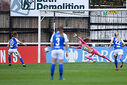 Christie Murray of Birmingham City Women scores her sides fourth goal of the game - Mandatory by-line: Ryan Hiscott/JMP - 18/10/2020 - FOOTBALL - Twerton Park - Bath, England - Bristol City Women v Birmingham City Women - Barclays FA Women's Super League