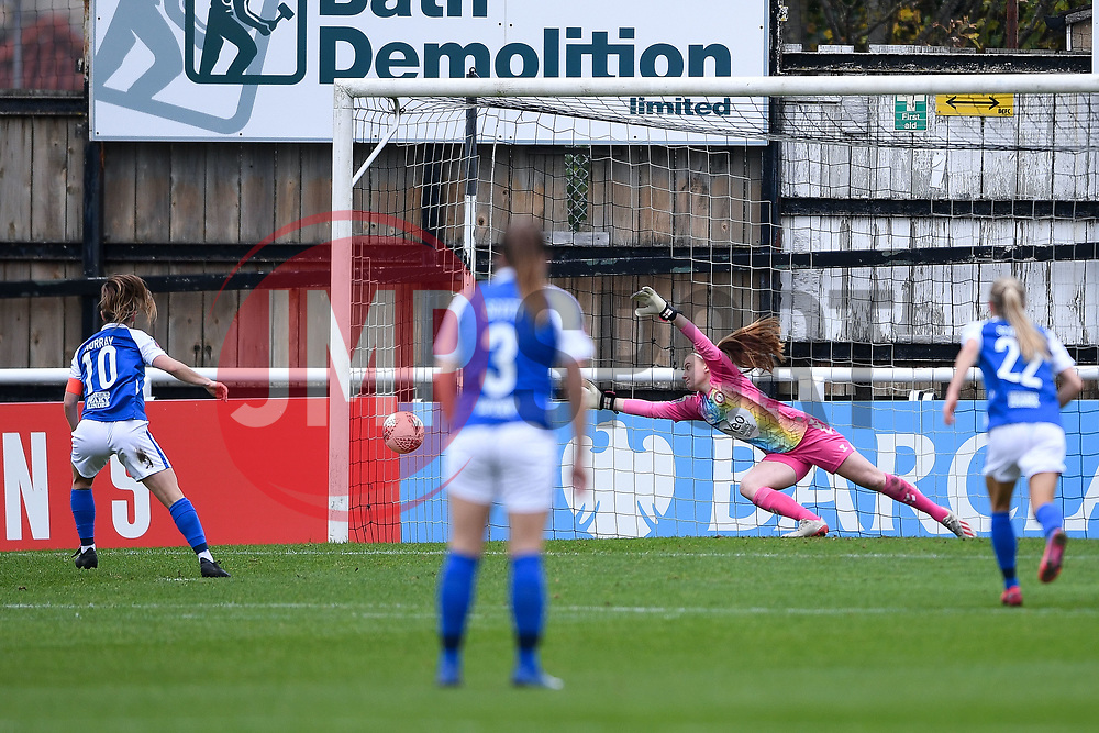 Christie Murray of Birmingham City Women scores her sides fourth goal of the game - Mandatory by-line: Ryan Hiscott/JMP - 18/10/2020 - FOOTBALL - Twerton Park - Bath, England - Bristol City Women v Birmingham City Women - Barclays FA Women's Super League