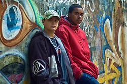Os rappers, Rafael Rafuagi e Diego Divox no estúdio Divox, no bairro Teresópolis, em Porto Alegre.  FOTO: Lucas Uebel/Preview.com