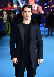 Josh Patterson attending the Aquaman premiere held at Cineworld in Leicester Square, London.