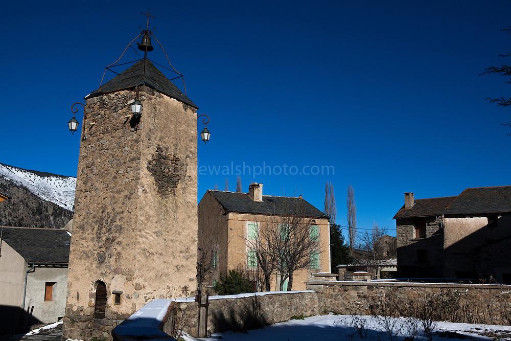 Tour de l'horloge, Prats Balaguer - clocktower, in the hamlet, in the Pyrenees Orientales, France.
